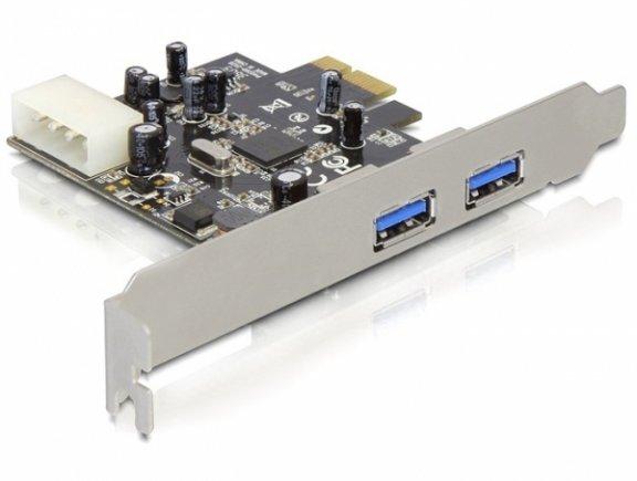 DeLOCK 2 x ulkoinen USB 3.0 PCI Express -adapteri
