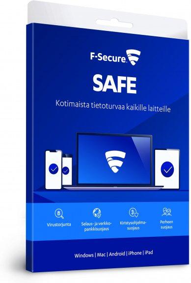 F-Secure SAFE - 3 laitetta / 12 kk -tietoturvaohjelmisto, attach - uuden laitteen ostajalle