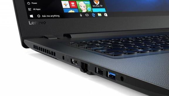 """Lenovo Ideapad 110 17,3"""" -kannettava, Win 10 64-bit, musta, kuva 4"""