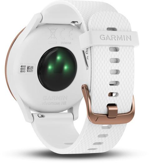 Garmin vivomove HR Sport -hybridiälykello, ruusukulta/valkoinen, kuva 4