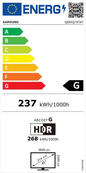 """Samsung QE85Q70TAT 85"""" 4K Ultra HD LED-televisio, kuva 2"""