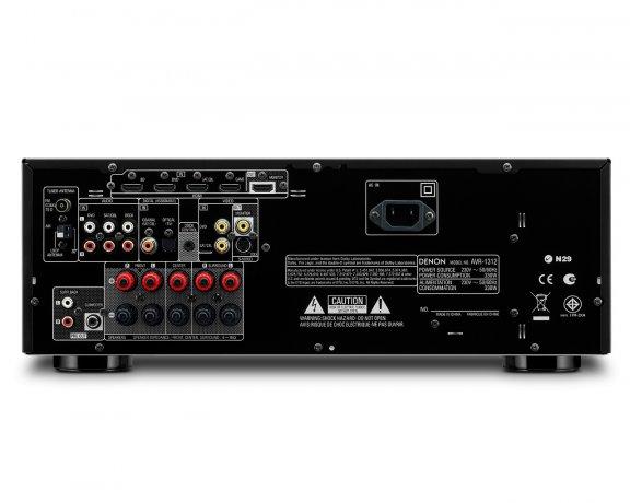 Denon AVR-1312, 5.1-kanavainen AV-vahvistin, väri musta, kuva 2