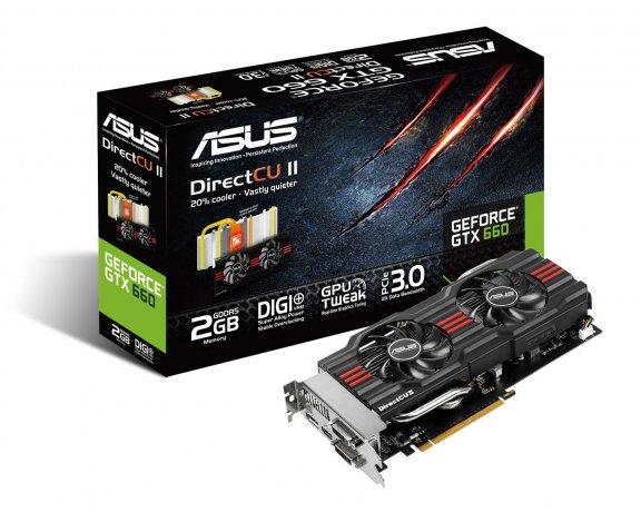 Asus GTX660-DC2-2GD5 NVIDIA GeForce GTX660 2048 MB -näytönohjain PCI-e-väylään