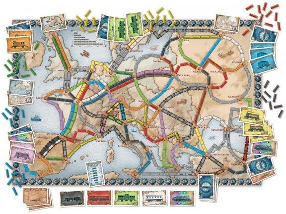 Ticket to Ride Europe -strategiapeli, kuva 2