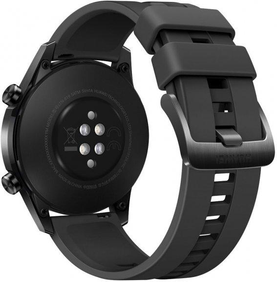 Huawei Watch GT2 -älykello , Musta 46 mm silikoniranneke, kuva 2