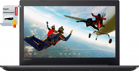 """Lenovo IdeaPad 320 15,6"""" kannettava, Win 10 64-bit, musta"""