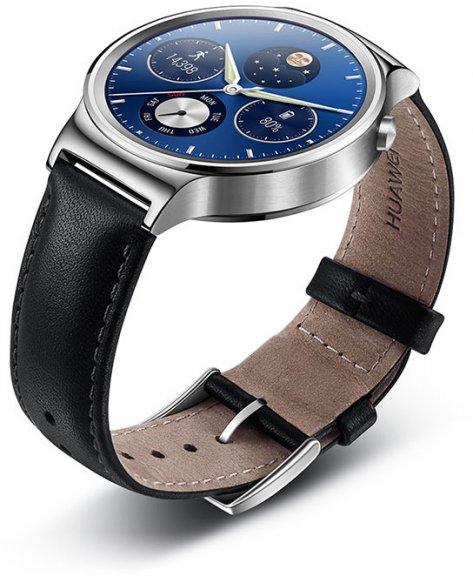 Huawei Watch -älykello, hopea nahkarannekkeella, kuva 3