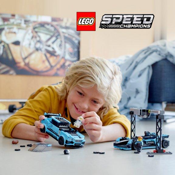 LEGO Speed Champions 76898 - Formula E Panasonic Jaguar Racing GEN2 car & Jaguar I-PACE eTROPHY, kuva 8