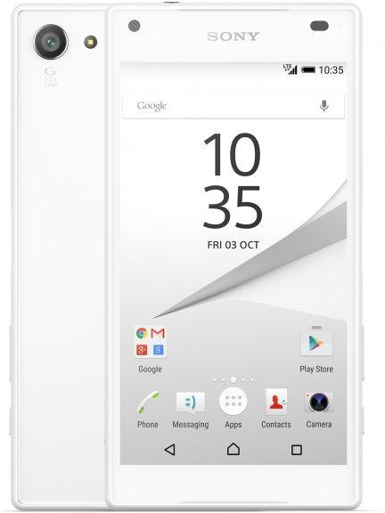 Sony Xperia Z5 Compact Android-puhelin, valkoinen, kuva 2