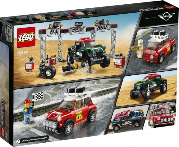 LEGO Speed Champions 75894 - 1967 Mini Cooper S Rally ja 2018 MINI John Cooper Works Buggy, kuva 2