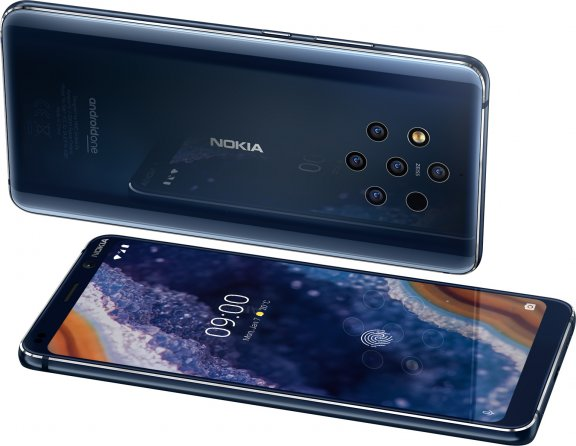 Nokia 9 PureView -Android-puhelin, sininen