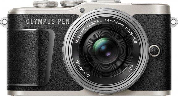 Olympus PEN E-PL9 -mikrojärjestelmäkamera, musta + pannukakkuobjektiivi