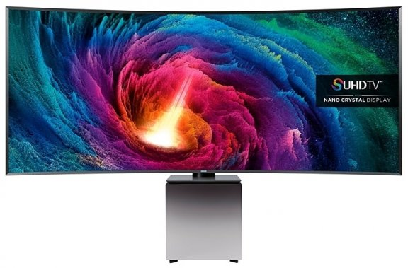 "Samsung UE82S9W 82"" Sculpture Design 21:9 Smart Extra Wide Ultra HD Curved LED-televisio"