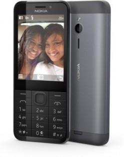 Nokia 230 -peruspuhelin, tumman hopea