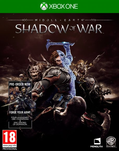 Middle Earth - Shadow of War -peli, Xbox One