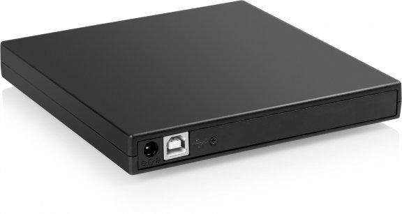 Fuj:tech Burner -ulkoinen Slim DVD+/-RW -asema, musta, kuva 2