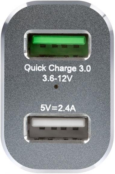 Fuj:tech DualPower Quick Charge 3.0 USB-autolaturi, kuva 3