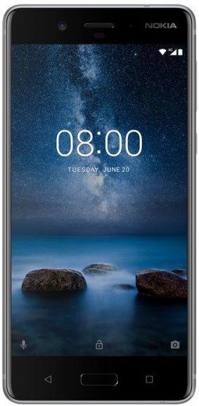 Nokia 8 -Android-puhelin Dual-SIM, 64 Gt, teräs