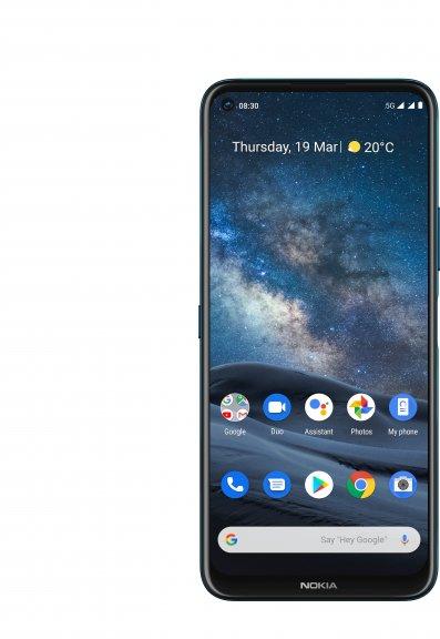 Nokia 8.3 5G -Android-puhelin Dual-SIM, 64 Gt, sininen, kuva 3