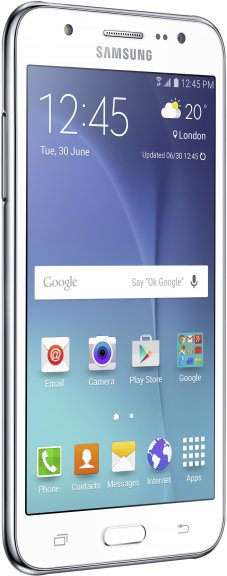Samsung Galaxy J5 -Android-puhelin, valkoinen, kuva 2