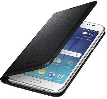 Samsung Galaxy J5 (2015) Flip Wallet -suojakansi, musta