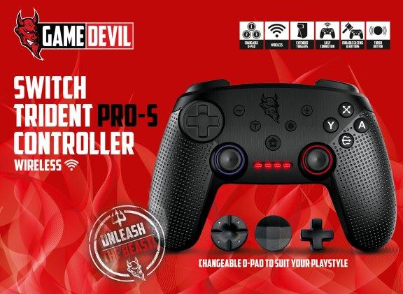 GameDevil Trident PRO-S Wireless Controller -peliohjain, Switch, kuva 4