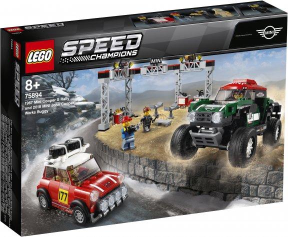 LEGO Speed Champions 75894 - 1967 Mini Cooper S Rally ja 2018 MINI John Cooper Works Buggy