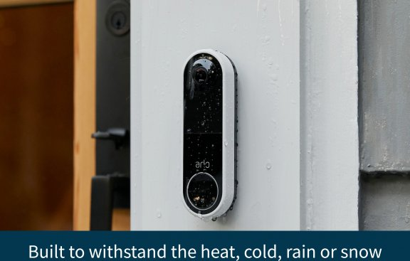 Arlo Essential Video Doorbell -video-ovikello, valkoinen, kuva 6
