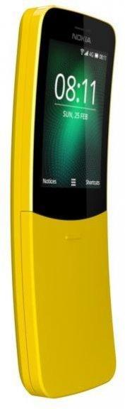 Nokia 8110 4G (2018) -peruspuhelin, keltainen, kuva 3