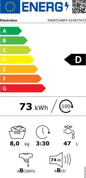 Electrolux EW6F5348F4 Perfect Care 600 -pyykinpesukone, kuva 8