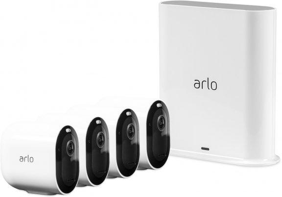 Arlo Pro 3 -valvontajärjestelmä neljällä 2K QHD -tasoisella kameralla