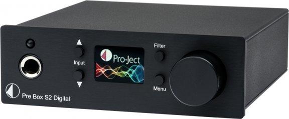 Pro-Ject Box-Design Pre Box S2 Digital -esivahvistin, musta