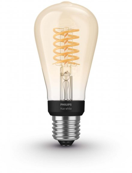 Philips Hue -filamenttiälylamppu, BT, White, Filament Edison, E27