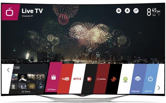 "LG 55EC930V 55"" Smart 3D Curved OLED-televisio, webOS, WiFi, Miracast, kuva 3"