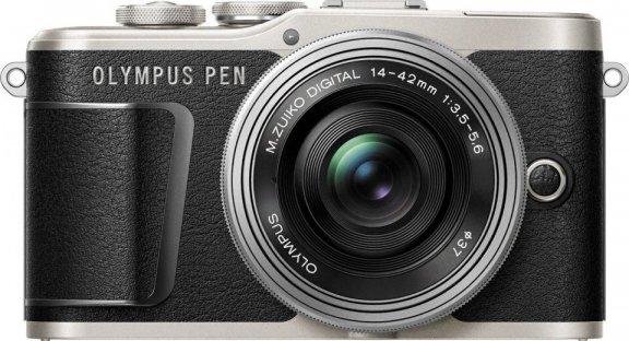 Olympus PEN E-PL9 -mikrojärjestelmäkamera, musta + pannukakkuobjektiivi + Corel PaintShop Pro 2020 Ultimate -kuvankäsittelyohjelmisto