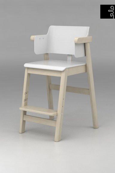 Sulo-tuoli, valkoinen/koivu, kuva 2