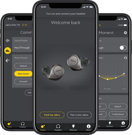 Jabra Elite 75t -Bluetooth-kuulokkeet, musta/titaani, kuva 7