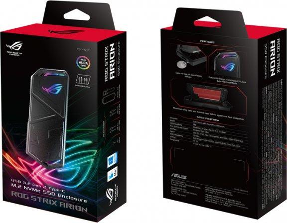 Asus ROG STRIX ARION ulkoinen kiintolevykotelo, M.2 USB-C 3.2 Gen2, PCIe NVMe, kuva 10