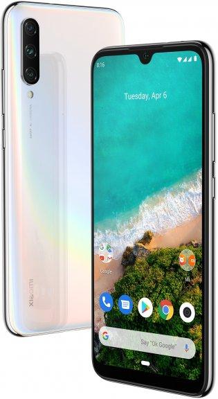 Xiaomi Mi A3 -Android-puhelin Dual-SIM, 64 Gt, valkoinen
