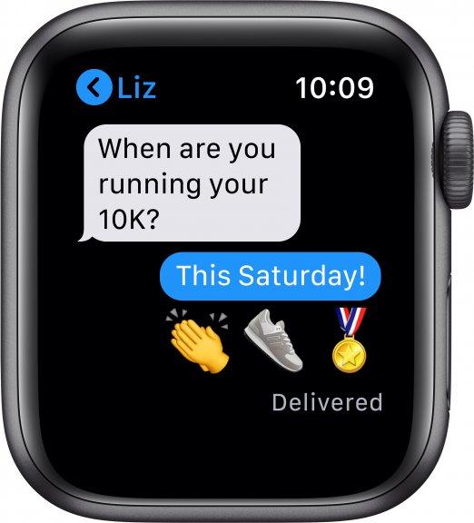Apple Watch Nike SE (GPS) 40 mm tähtiharmaa alumiinikuori ja antrasiitti/musta Nike Sport ‑ranneke, MYYF2, kuva 6