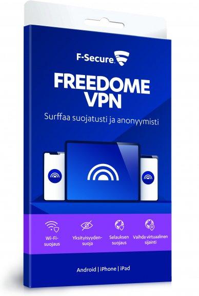 F-Secure FREEDOME VPN - mobiililaitteet - 1 laite / 12 kk -yksityisyyden suoja ohjelmisto