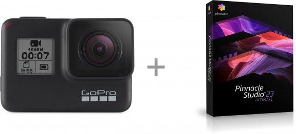 GoPro HERO7 Black + Pinnacle Studio 23 Ultimate -videoeditointiohjelmisto