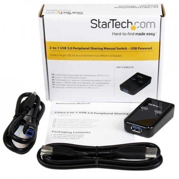 StarTech 2-to-1 USB 3.0 -kytkin, kuva 4