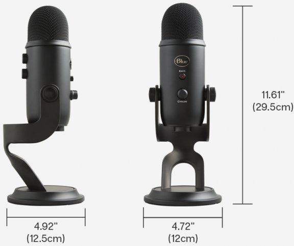 Blue Microphones Yeti Blackout -mikrofoni USB-väylään, musta, kuva 4