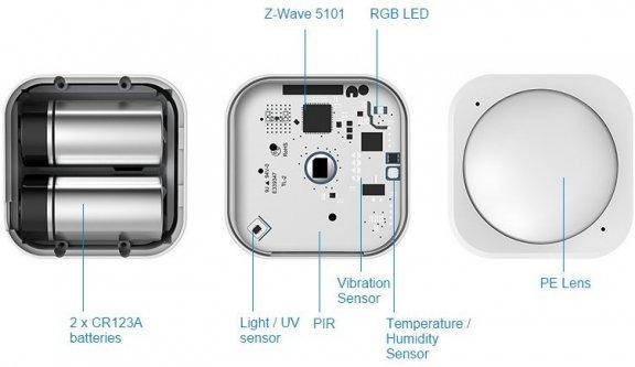 Fuj:tech MultiSensor 6 -anturi Z-Wave -järjestelmiin, kuva 3