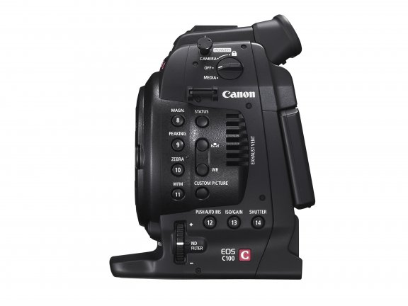 Canon EOS C100 Mark II videokamera, runko, kuva 2