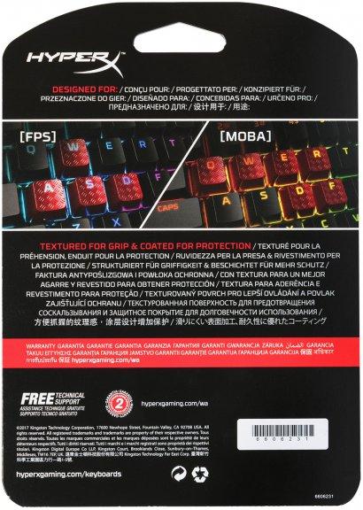 HyperX FPS & MOBA Gaming Keycaps -vaihtonäppäimet, punaiset, kuva 6