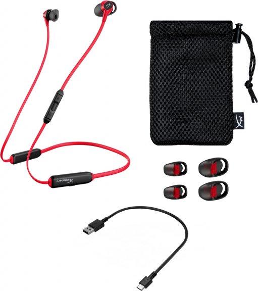 HyperX Cloud Buds Bluetooth -nappipelikuuloke mikrofonilla, musta/punainen, kuva 5
