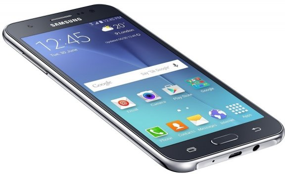 Samsung Galaxy J5 -Android-puhelin, musta