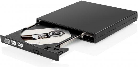 Fuj:tech Burner -ulkoinen Slim DVD+/-RW -asema, musta